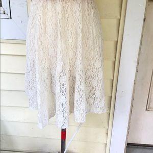 EXPRESS Elastic Waist Line Skirt, Size Medium